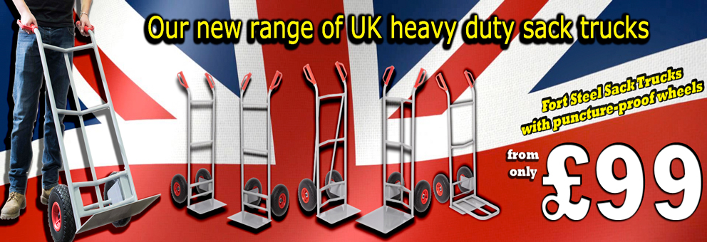 Fort Heavy Duty Sack Trucks with Puncture Proof Wheels Available at at Premier Storage