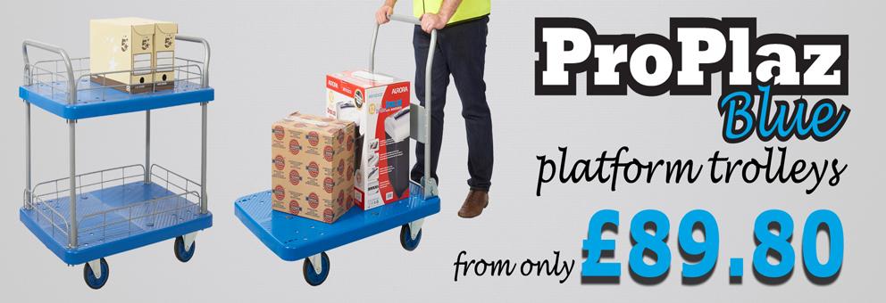 ProPlaz Blue Platform Trolleys Available at at Premier Storage