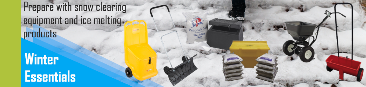 Winter Equipment grit bin, snow clearer, salt spreader