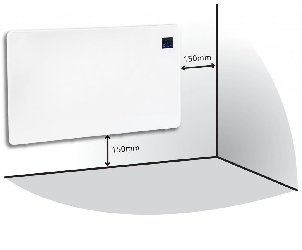 Levante 500w Eco Panel Heater Slimline Wall Mounted 24
