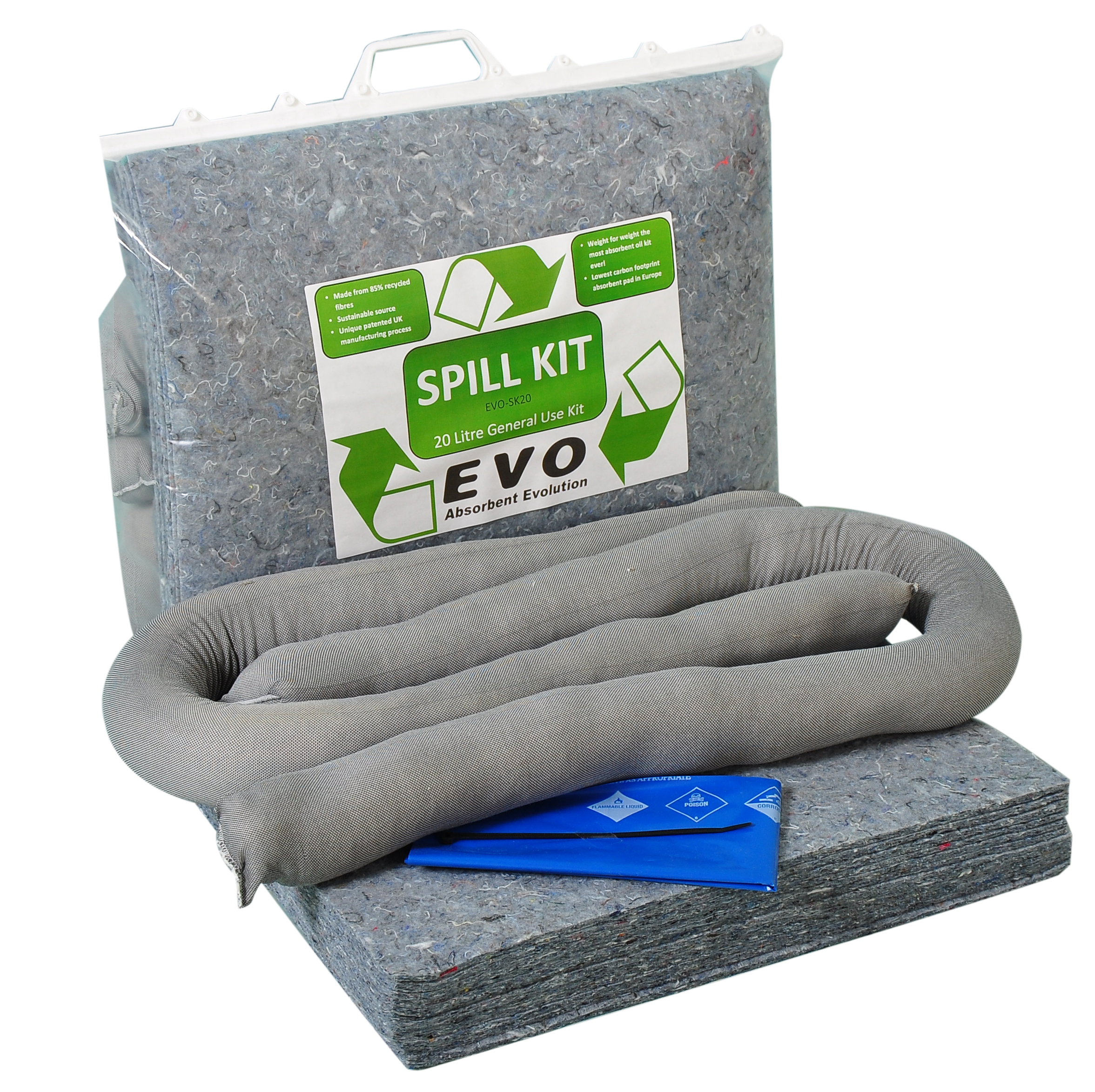 Universal Spill Kit In Clip Top Bag 20l Once Only Kit