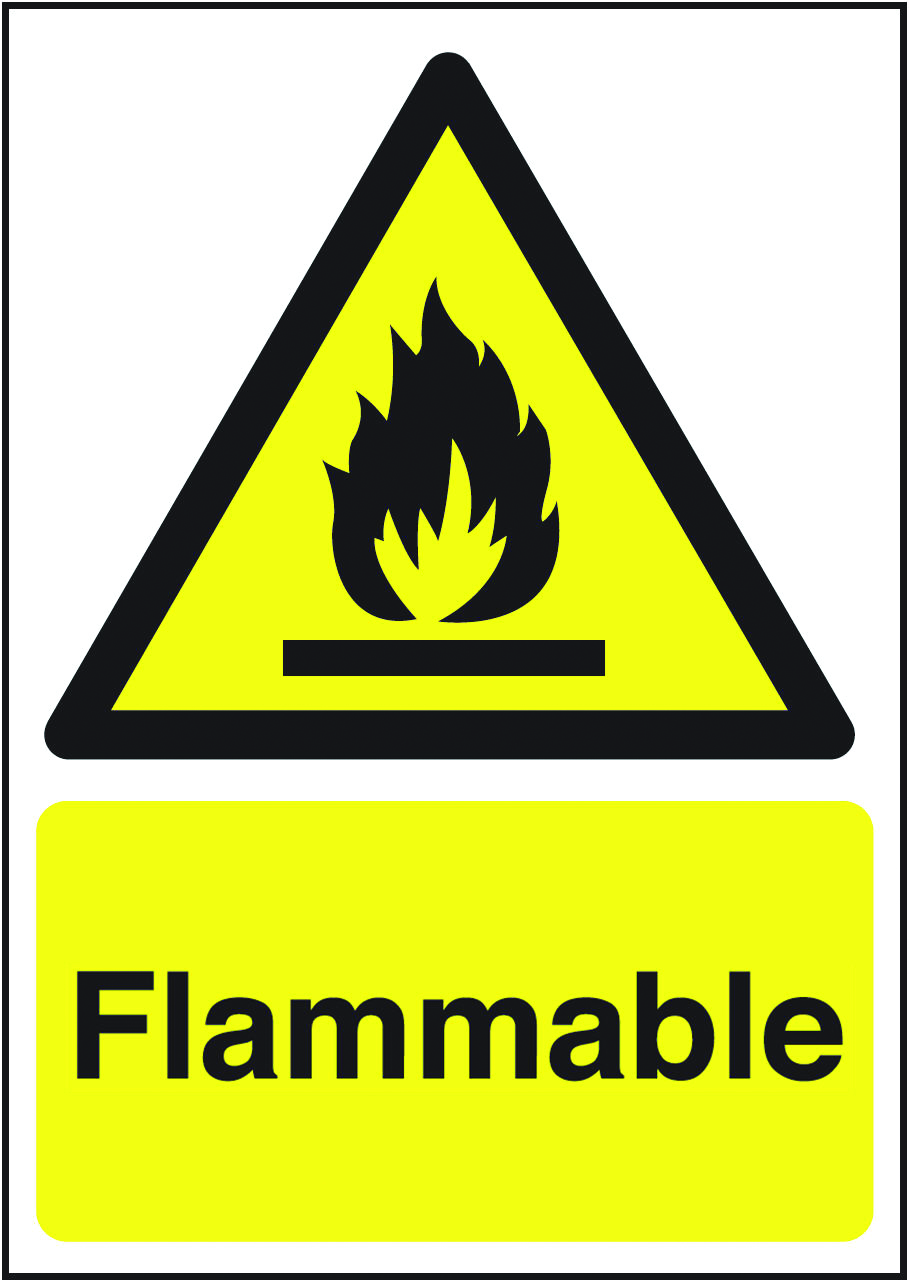 Flammable Sign Shzs707