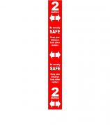 Social Distancing Floor distance marker -  PVC LAM