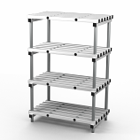 Aluminium Shelving - 1000mm Long