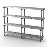 Aluminium Shelving - 2000mm Long - Double Bay