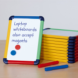 School Pupil A4 Magnetic Whiteboard - Pack of 10