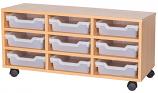 9 Shallow Tray Triple Unit - 460mm High