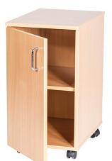 Single Door Cupboard Mobile - 697mm High