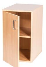 Single Door Cupboard Static - 697mm High