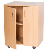 Double Door Mobile Cupboard - 697mm High
