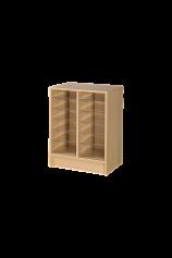 Double Column Pigeonhole Storage