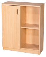 Premium 20 Box file Storage Unit With Half Cupboard 914mm High