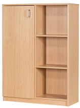 Premium 30 Box File Storage Unit With Half Cupboard 1312mm High