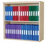 Premium 20 Box File Open Wall Mounted Unit 840mm High