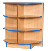 Folio Premium End Cap Flat Top Library Bookcase