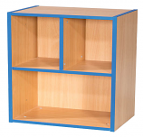 KubbyKurve Two Tier 2 + 1 Library Shelf Unit 700mm High 500mm Wide