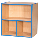 KubbyKurve Two Tier 1 + 2 Library Shelf Unit 700mm High 500mm Wide