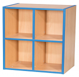 KubbyKurve Two Tier 2 + 2 Library Shelf Unit 700mm High 500mm Wide