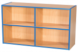 KubbyKurve Two Tier 2 + 2 Library Shelf Unit 700mm High 1000mm Wide