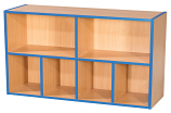 KubbyKurve Two Tier 2 + 4 Library Shelf Unit 700mm High 1000mm Wide