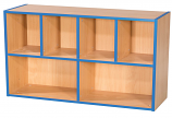 KubbyKurve Two Tier 4 + 2 Library Shelf Unit 700mm High 1000mm Wide
