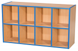 KubbyKurve Two Tier 4 + 4 Library Shelf Unit 700mm High 1000mm Wide