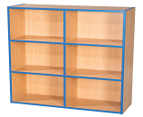 KubbyKurve Three Tier 2 + 2 + 2 Library Unit 1040mm High 1000mm Wide