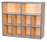 KubbyKurve Three Tier 2 + 4 + 4 Library Unit 1040mm High 1000mm Wide