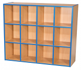 KubbyKurve Three Tier 4+4+4 Library Unit 1040mm High 1000mm Wide