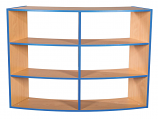 KubbyKurve Three Tier Curved Bookcase Open Back 1040mmH 1200mmW