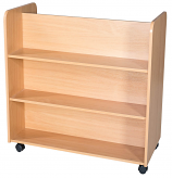 Library Double Sided Mobile Bookcase - 900mm High 900mm Wide