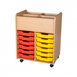 12 Tray Hall Mobile Book Trolley