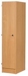 Premium Primary School 1 Door Wooden Locker - 350mm Deep