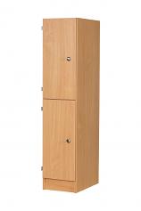 Premium Primary School 2 Door Wooden Locker - 350mm Deep