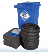 240 Litre AdBlue Spill Kit in Blue Wheelie Bin