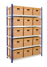 Anco Clicka Budget Shelving 265kg with Archive Boxes