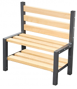 Premium Single Cloakroom Bench with Shoe Rack