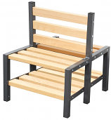 Premium Double Sided Cloakroom Bench with Shoe Rack
