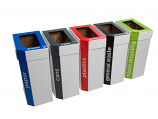 Cardboard Recycling Bins - Set of 5