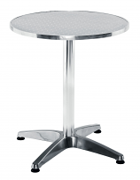 Plaza Cafe/Bistro Round Table - Aluminium