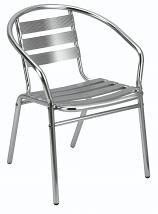 Plaza Cafe/Bistro Armchair - Aluminium