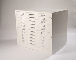 10 Drawer Metal Planchest