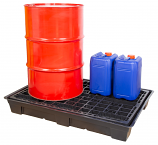 Recycled Plastic Spill Pallet - 2 Drums