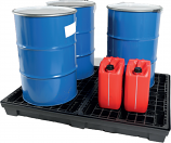 Recycled Plastic Spill Pallet - 4 Drums