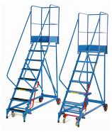 Fort Elite Heavy Duty Mobile Wide Steps - Steel Mesh Treads