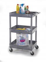 Plastic Multi Purpose Trolleys - 3 Shelf Trolley