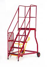 Fort Heavy Duty Vantage GS Mobile Warehouse Steps - Non-Slip Treads