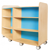 KubbyClass Curved Library Bookcase 1000mm