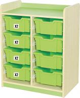 KubbyClass Double Bay Combination Tray Storage Units