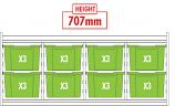 KubbyClass Quad Bay Combination Tray Storage Units